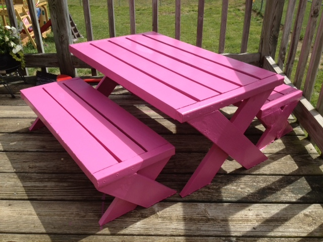 Kids Modern Picnic Table Part 44