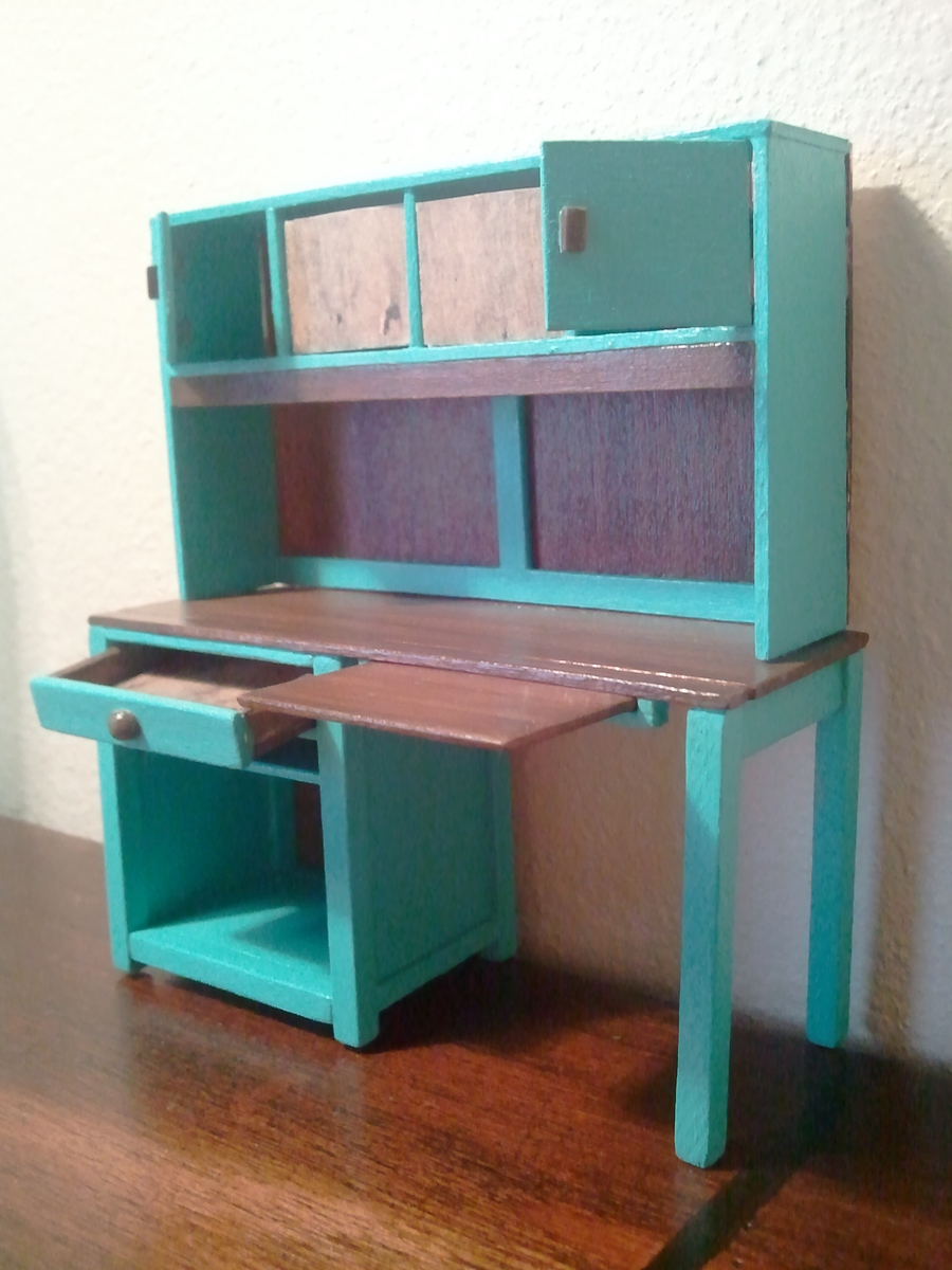 Ana White Miniature Channing Desk With Hutch Diy Projects