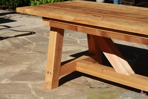 Ana white 10 foot long provence table with 4x4 39 s diy for Construire table jardin bois