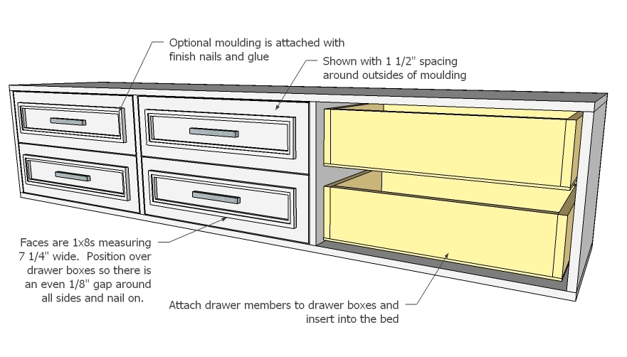 Building Plans For Platform Bed With Drawers | DIY Woodworking ...