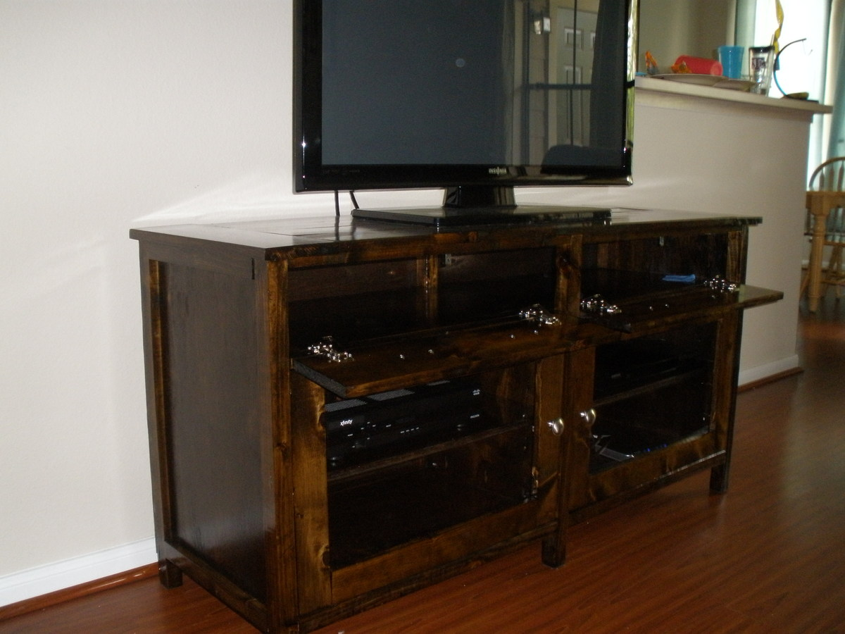 Ana White Benchmark Media Console Diy Projects
