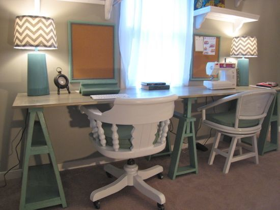 Ana White Double Saw Horse Workstation DIY Projects