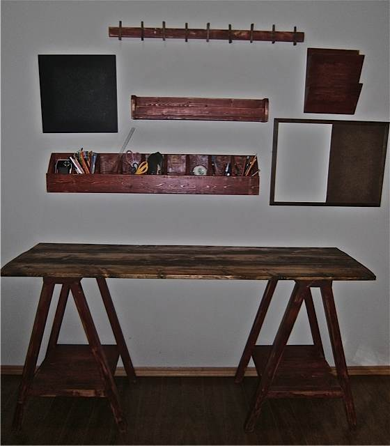 Ana White Rustic Sawhorse Desk Diy Projects