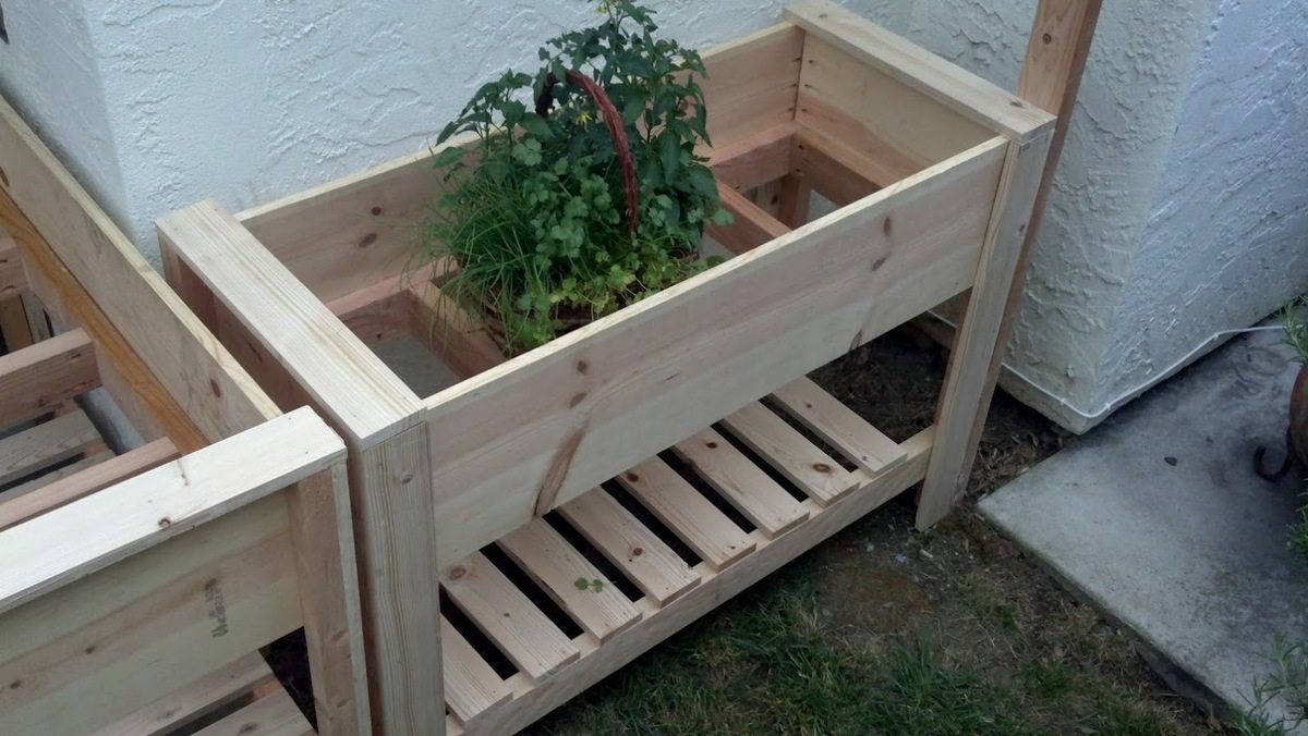 Charmant Twin Raised Planter Boxes