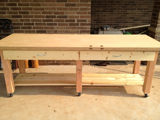 Door Top Workbench | Do It Yourself Home Projects from Ana White