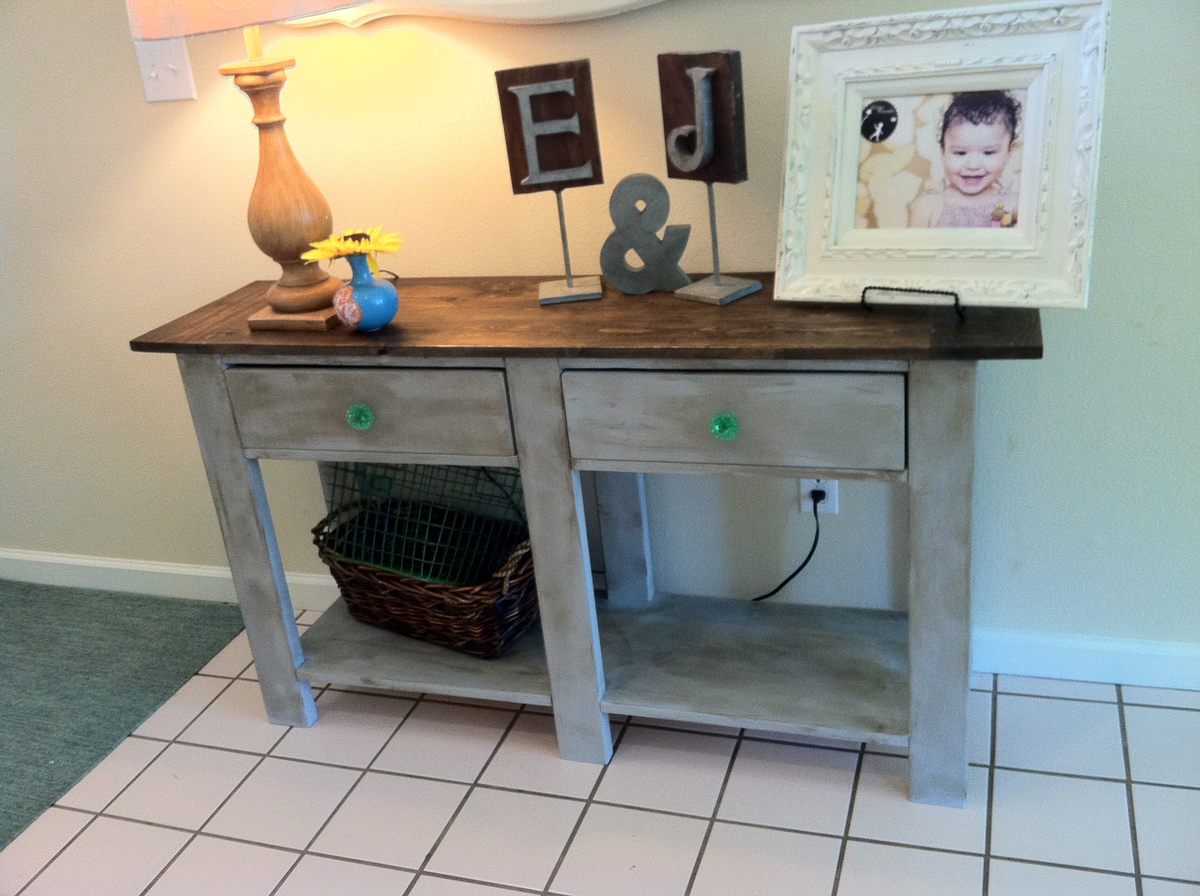 Ana white benchwright console table diy projects benchwright console table geotapseo Choice Image