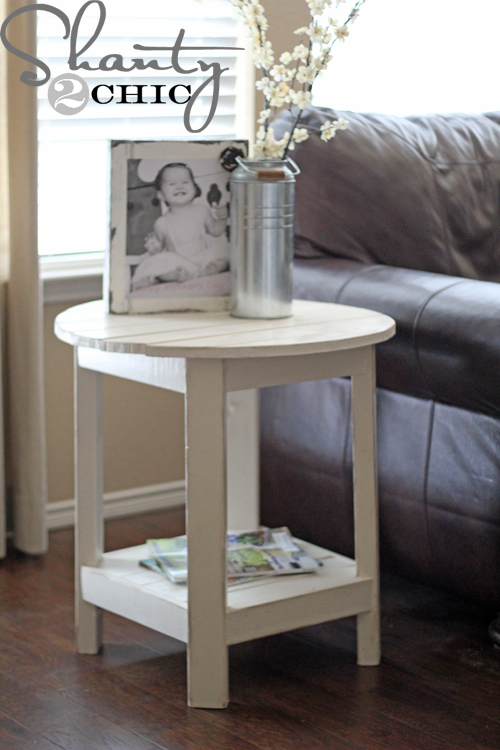 side table inspired by Pottery Barn Benchwright Side Table! Free DIY ...