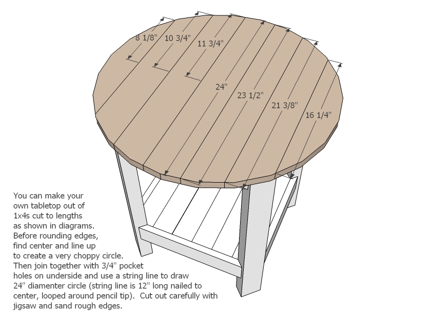Ana White | Benchright Round End Tables - DIY Projects