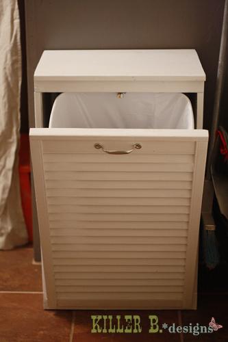 Tilt Out Trash Cabinet With Shutter Door