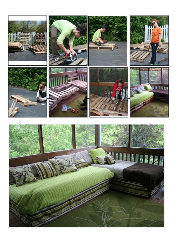 Ana white pallet daybed sectional diy projects for Outdoor pallet daybed