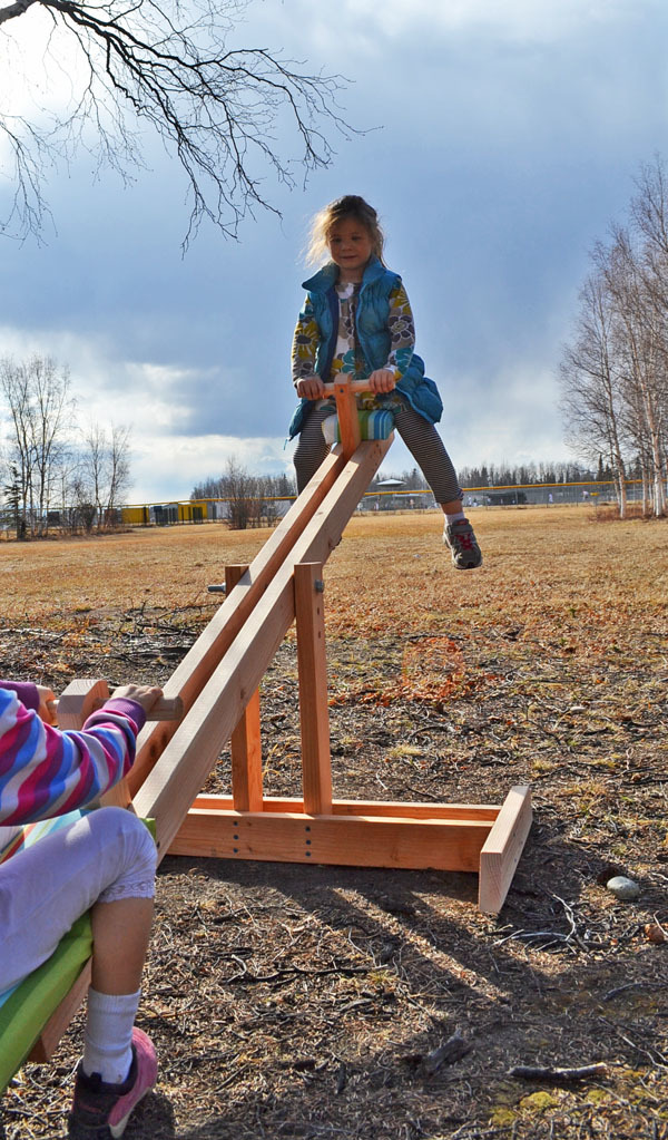 4c01799c4d4cf Make a teeter totter for less than  20! Free easy seesaw plans from Ana  White!