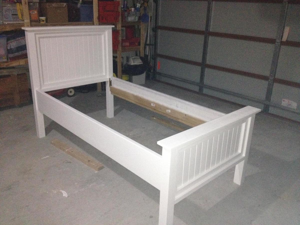 white twin bed. Modified Twin Farmhouse Bed White