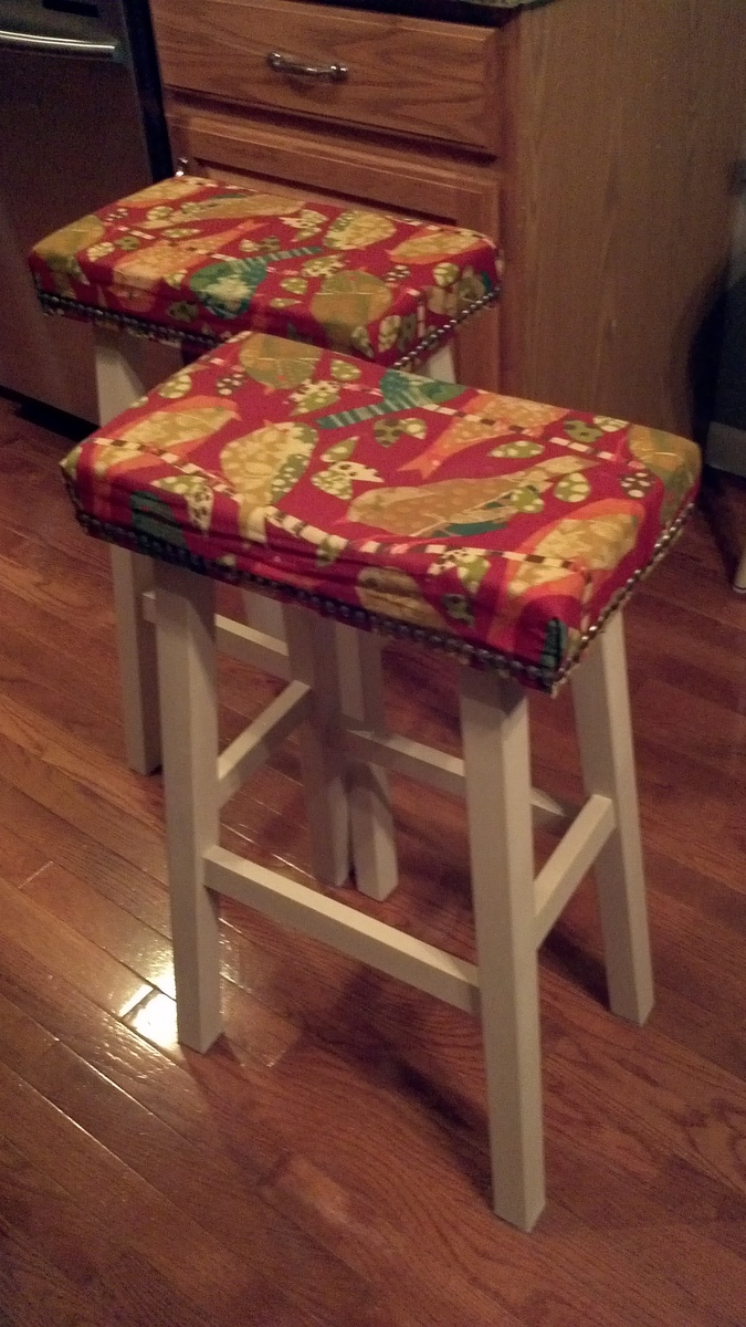 Ana White Upholstered Nail Head Stools Diy Projects