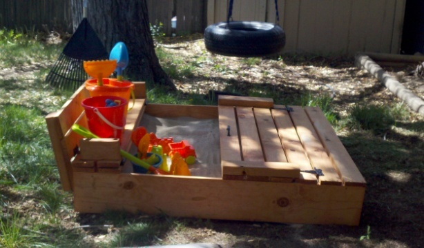 Ana White Sand Box With Benches Diy Projects