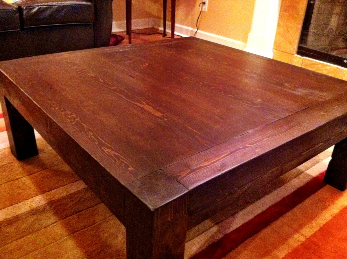 Rustic square coffee table plans plans diy free download for Square coffee table plans