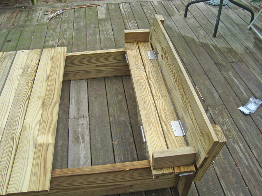 Ana White | Sandbox with Built-In Seats - DIY Projects