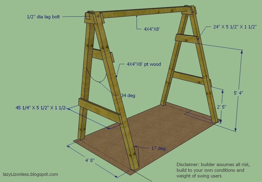 diy outdoor swings frames a fram plans a frames for