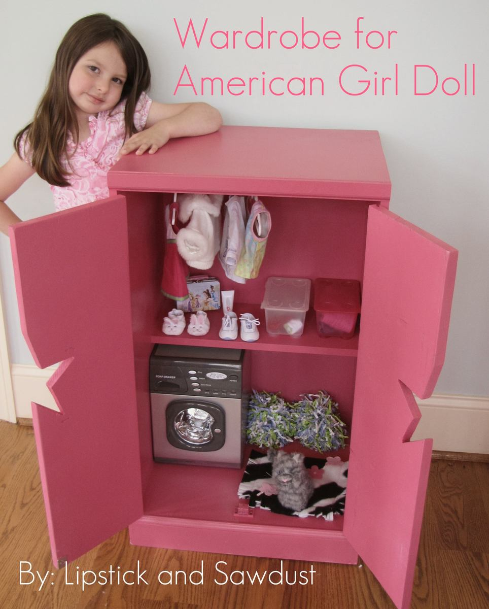 How To Make A Doll Clothes Closet Storage Anization Wardrobe American Plans
