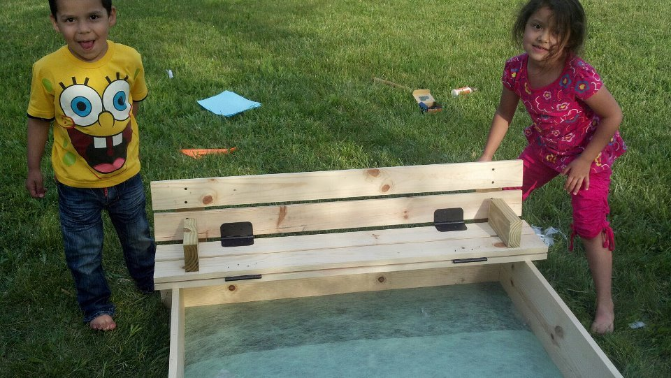 Ana White Covered Sandbox With Built In Seats Diy Projects