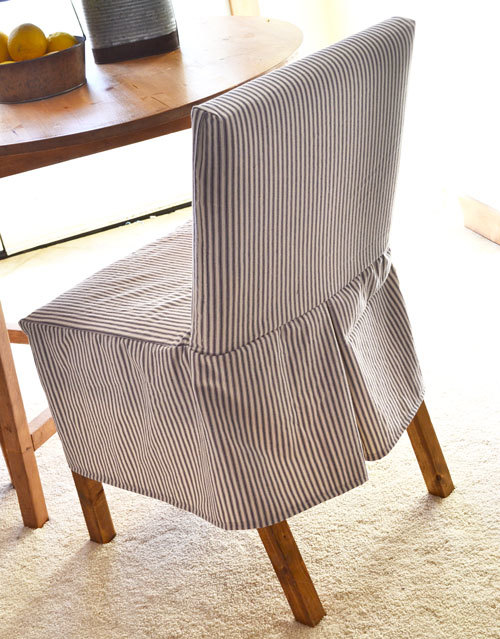 Ana White  Easiest Parson Chair Slipcovers - DIY Projects