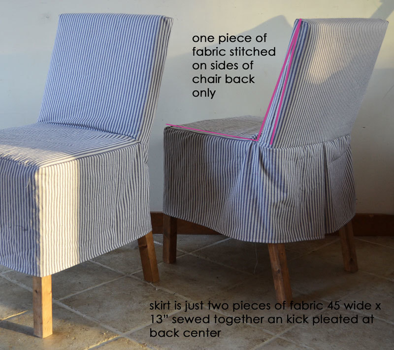 i didnu0027t want to spend a ton of time making a slipcover just something quick and easy to refresh the chairs