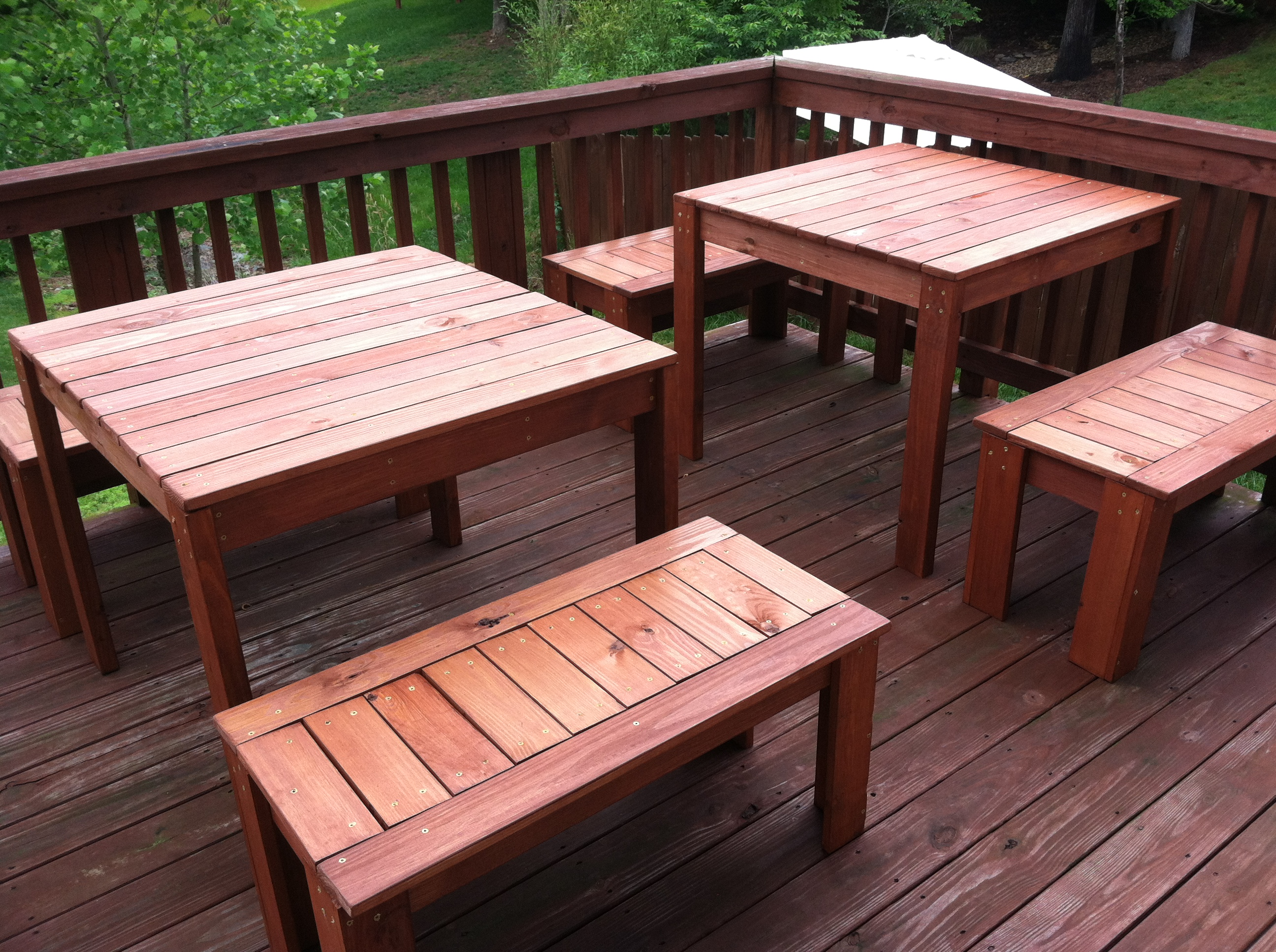 Astonishing Modified Simple Modern Outdoor Table And Benches Ana White Customarchery Wood Chair Design Ideas Customarcherynet