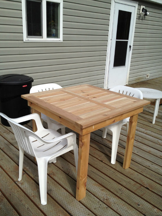 diy patio table plans fun diy projects pinterest