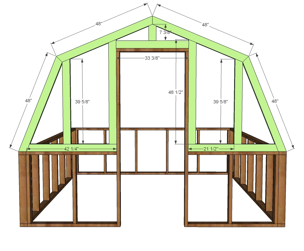 Ana white barn greenhouse diy projects for House projects plans