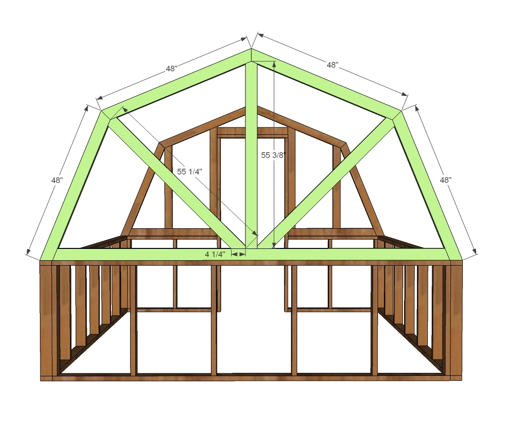 Green House Plans Designs ana white | barn greenhouse - diy projects