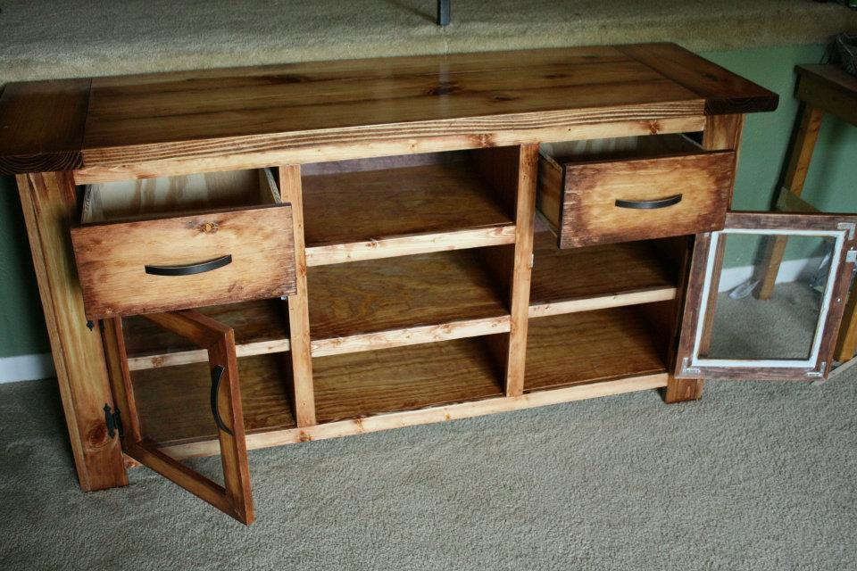 Ana white tv console to match coffee table diy projects for Matching tv stand and coffee table