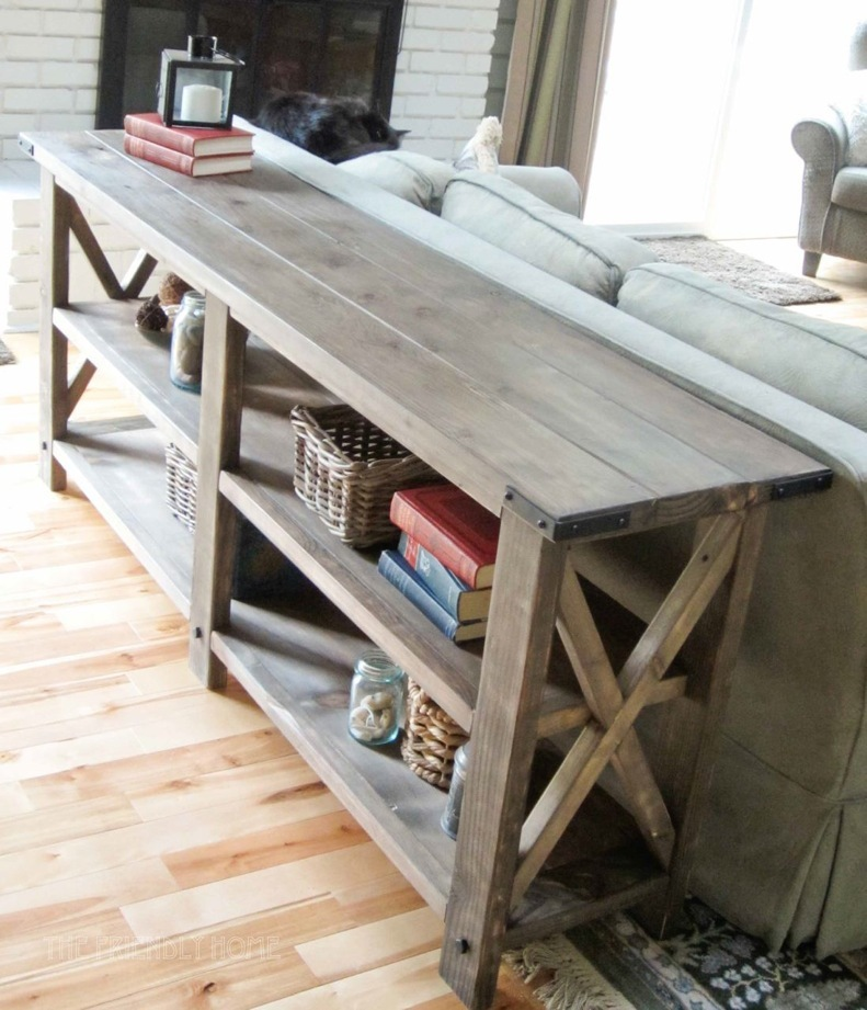 diy rustic sofa table. rustic x console diy sofa table o