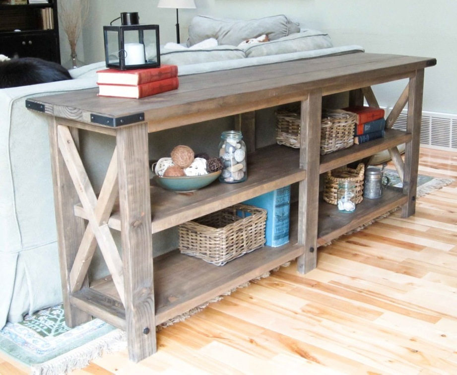 Foyer Console Furniture : Ana white rustic console diy projects