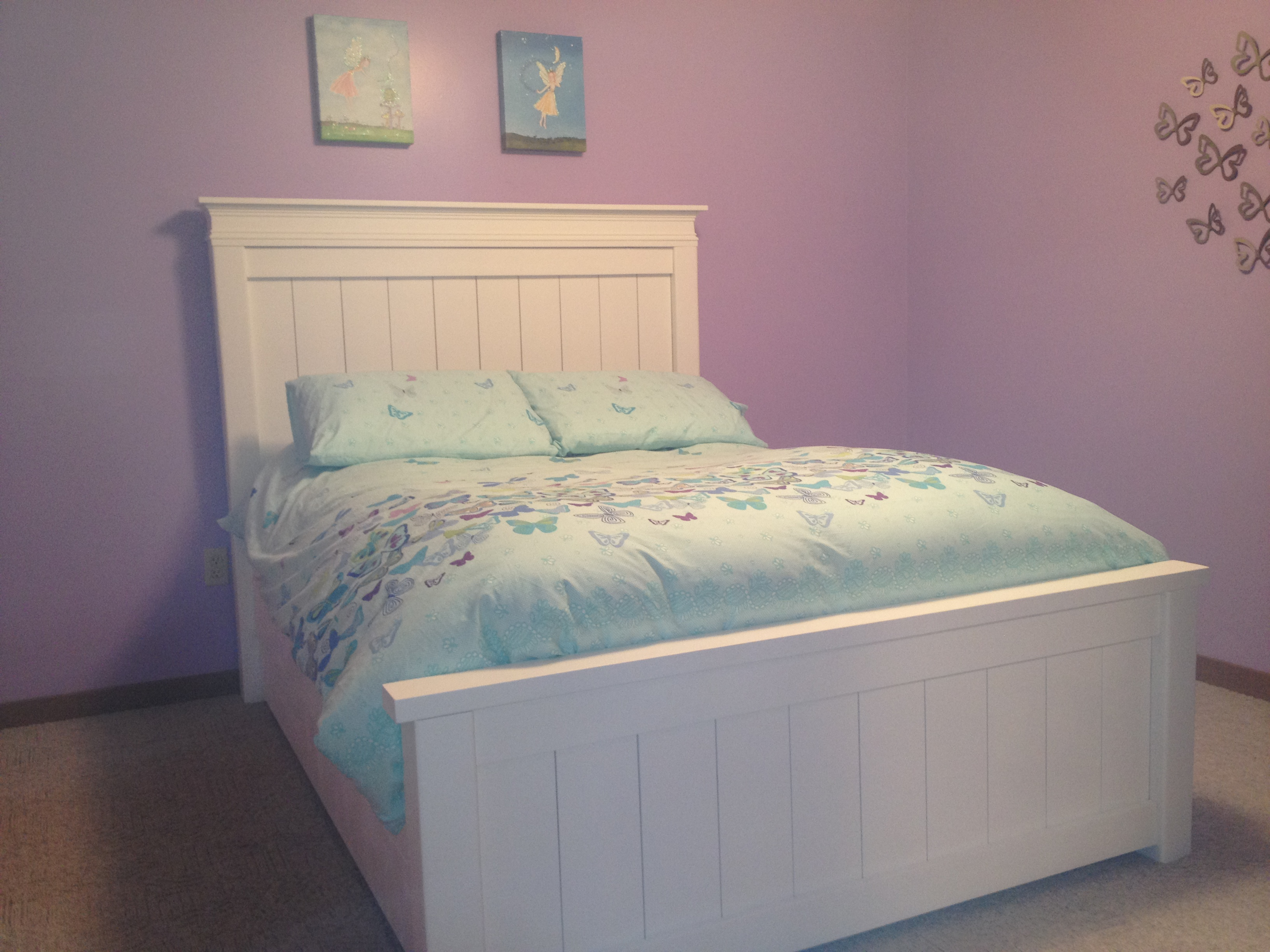 Ana White | Double Farmhouse Beds with Trundle Bed - DIY ...