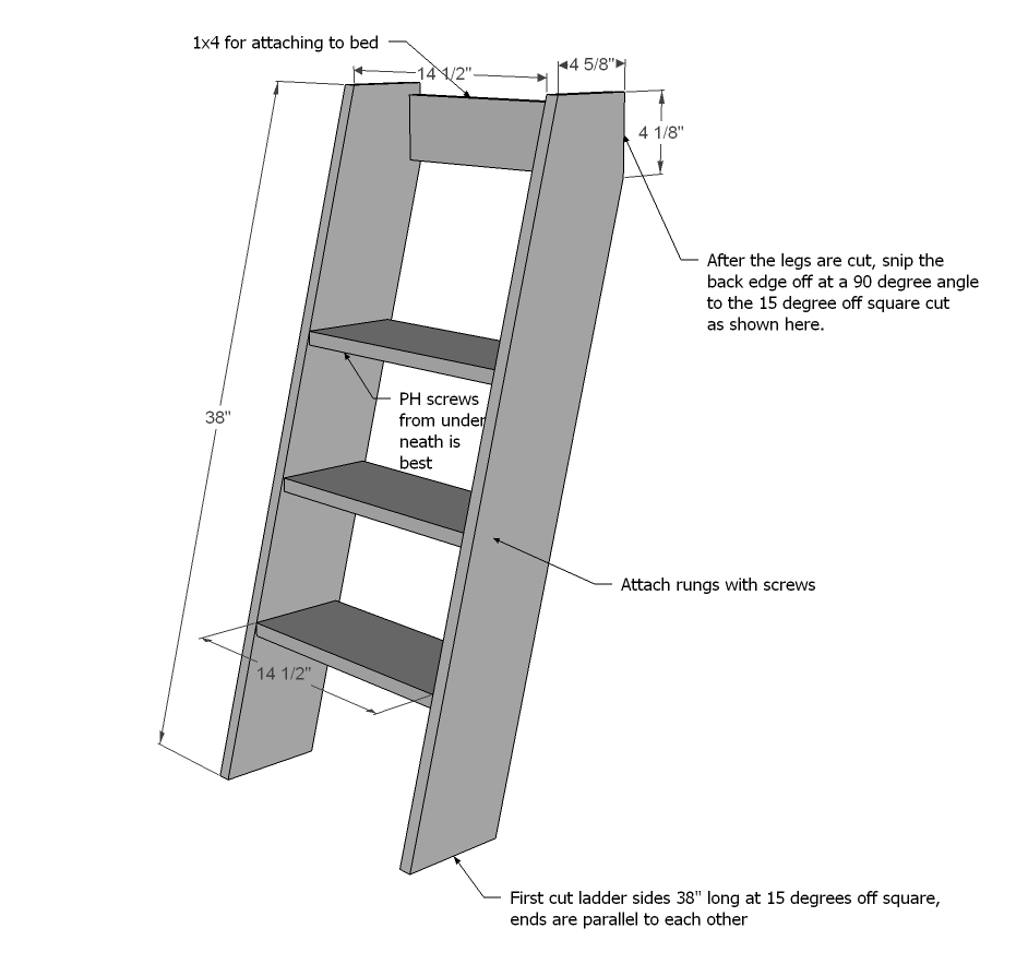 plans to build a bunk bed ladder | New Woodworking Plans