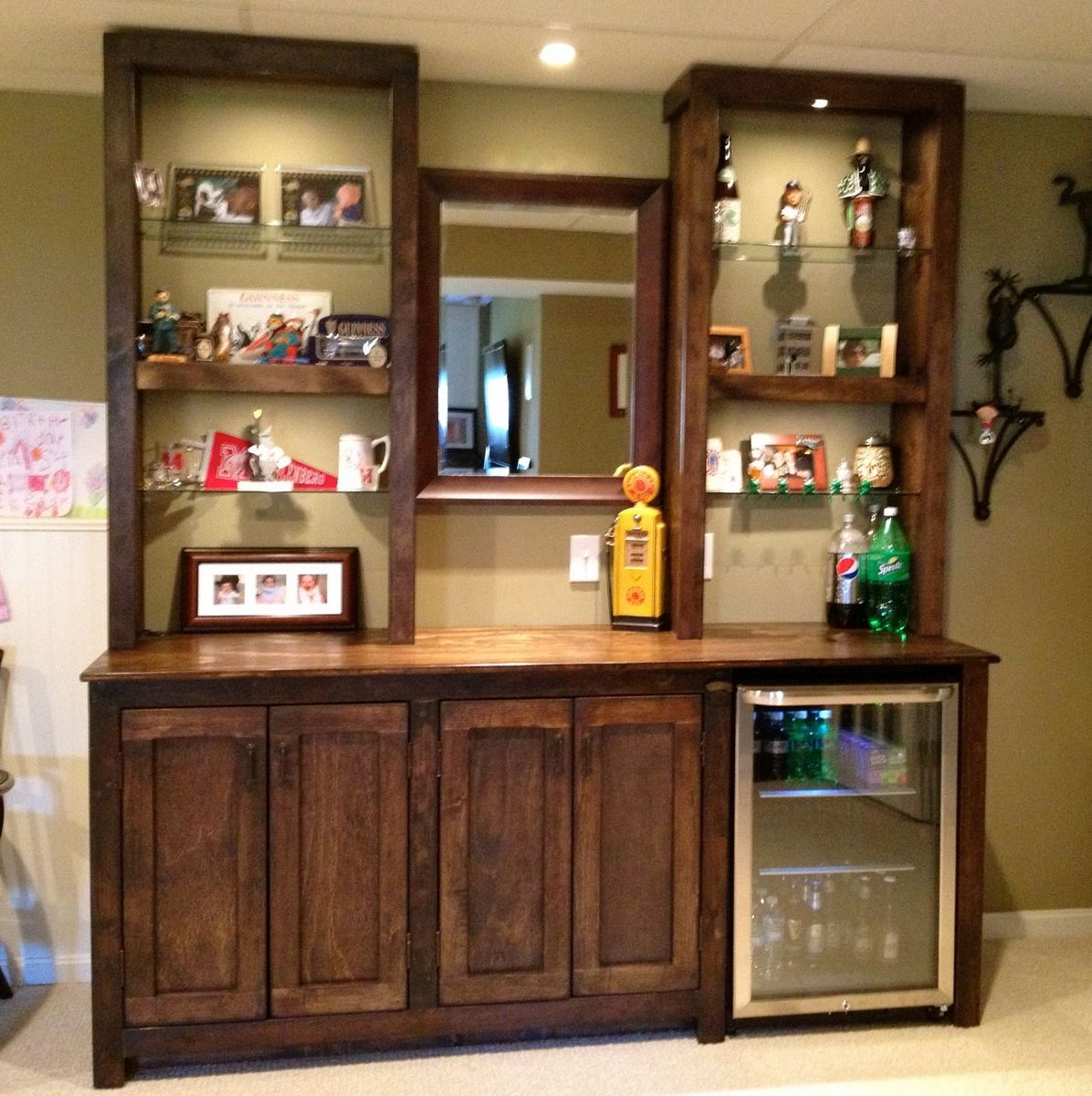 bar cabinet solid rustic product louis corner wood