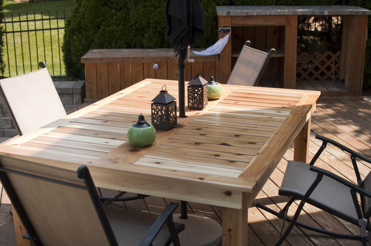 Charmant Simple Outdoor Dining Table