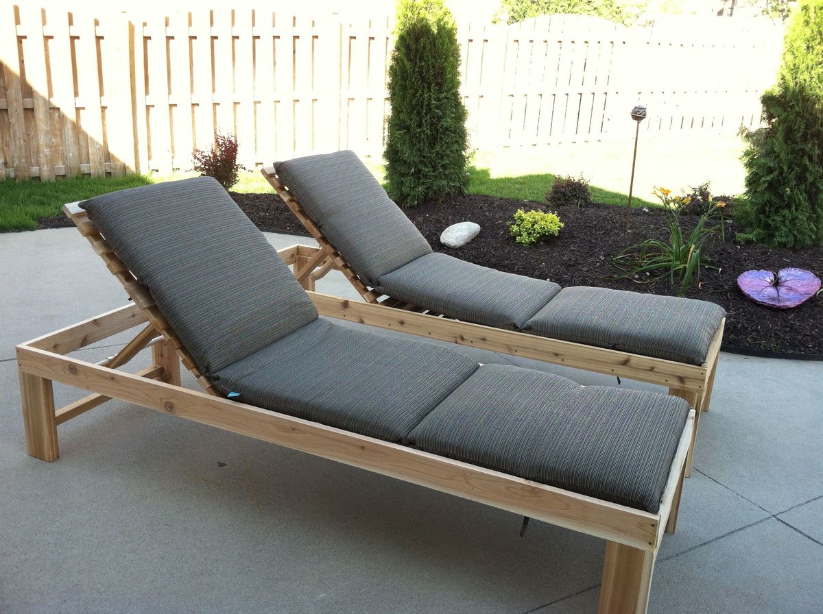 Ana white outdoor chaise lounge diy projects for Build chaise lounge