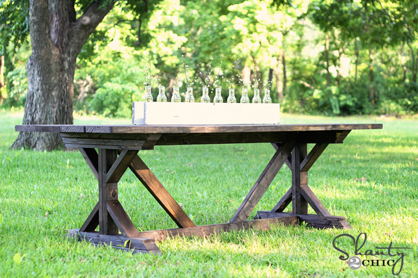 Ana white fancy x farmhouse table diy projects for Building a farmhouse