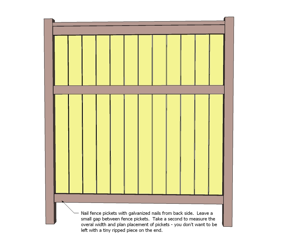 Ana white cedar fence diy projects Fence planner