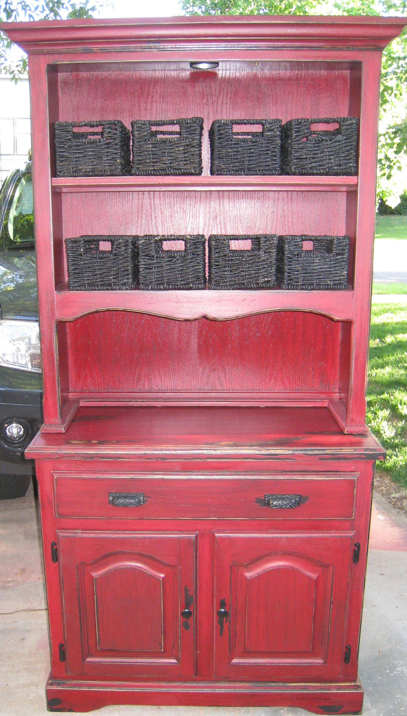 Ana White Red And Black Hutch Diy Projects