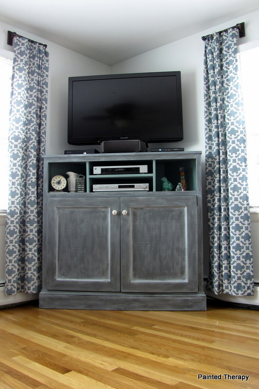 Tall Corner Media Console | Ana White