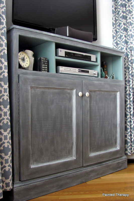 build a corner media stand free plans from anawhitecom - Tall Corner Tv Stand