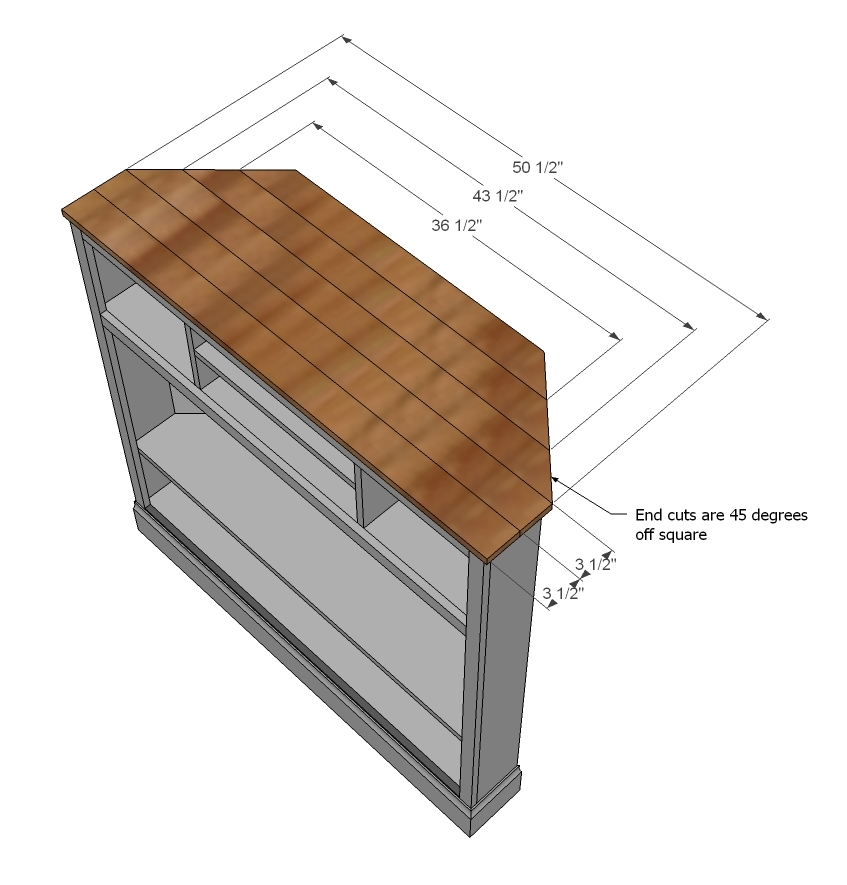 nail moulding on bottom mitering the corners - Diy Corner Tv Stands