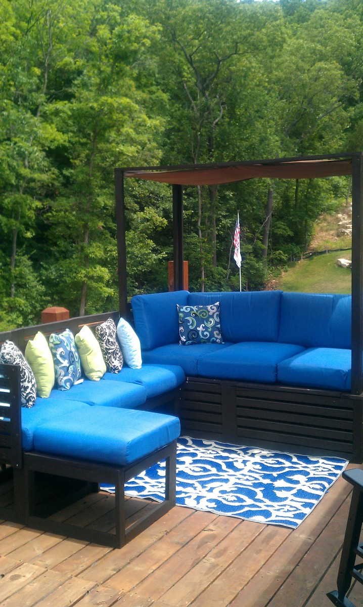 Ana White Outdoor Daybed Combined With Sectional Diy