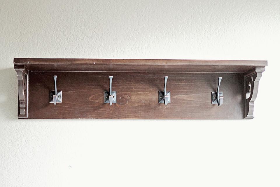 Shelf With Hooks