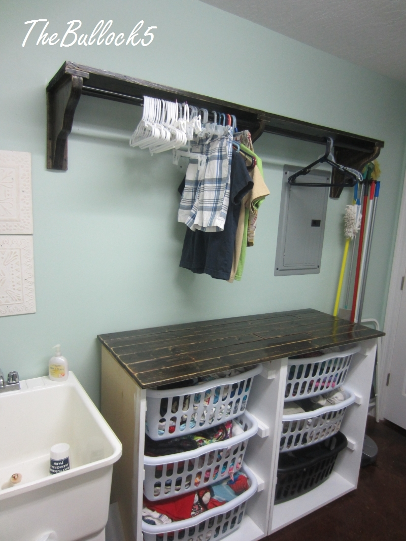 Ana White Laundry Dresser Foling Area And Hanging Shelf