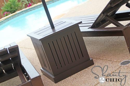 ana white | umbrella stand hampton - diy projects Rolling Umbrella Stand