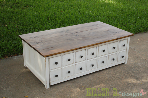 Nice Apothecary Coffee Table With Toybox Trundle