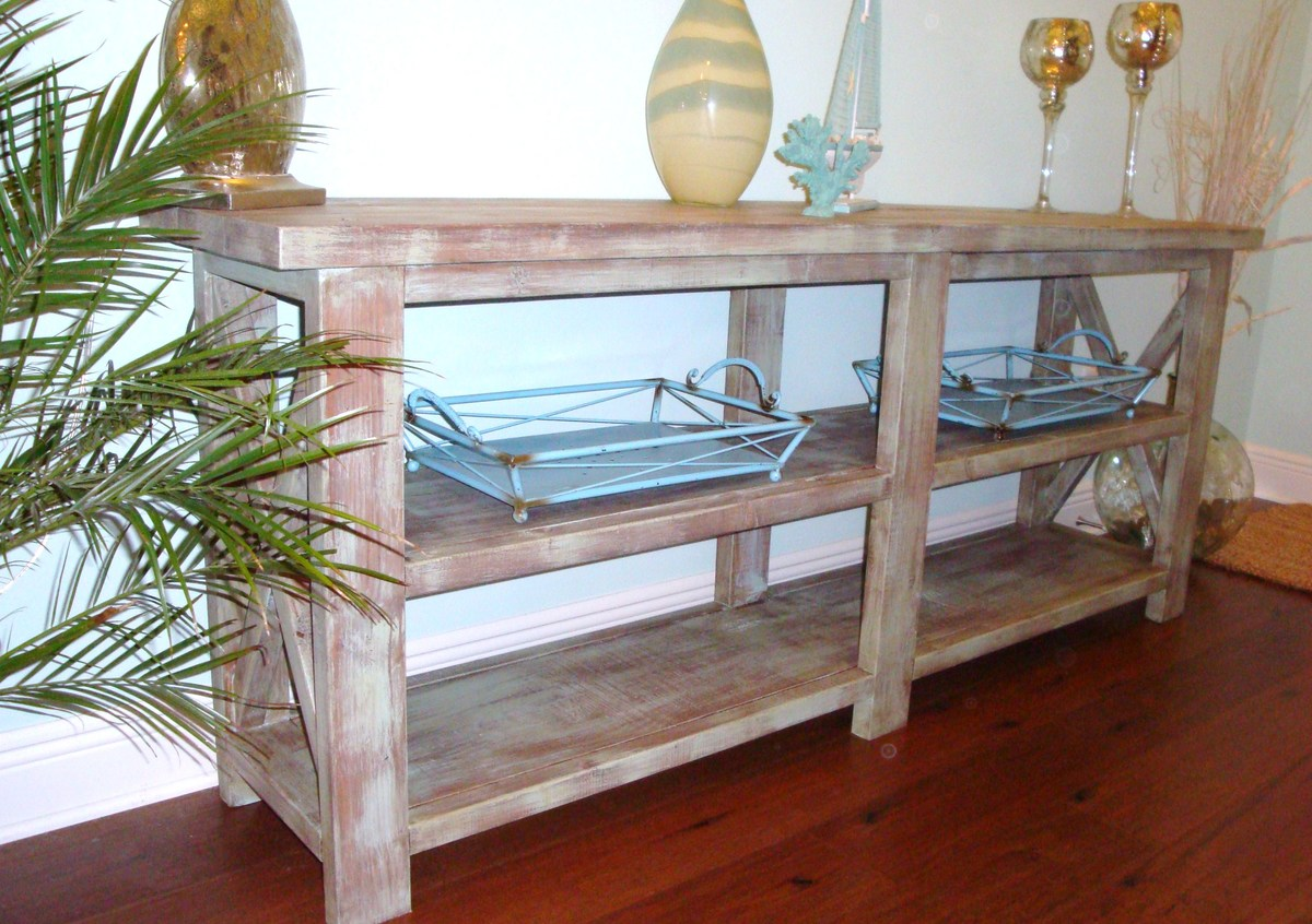 ana white coastal chic designs rustic console table diy projects rh ana white com Coastal Hall Table Sofa Table Ana White