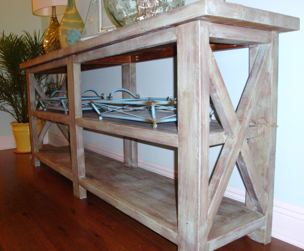 Ana White Coastal Chic Designs Rustic Console Table